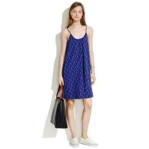 NWT- Madewell Backyard Sun Dress in Chevron ikat